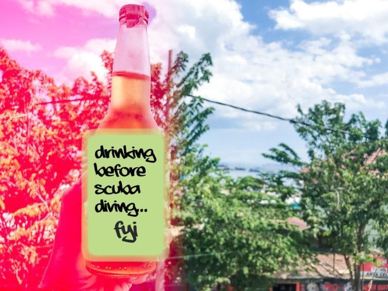 beber alcohol antes del buceo