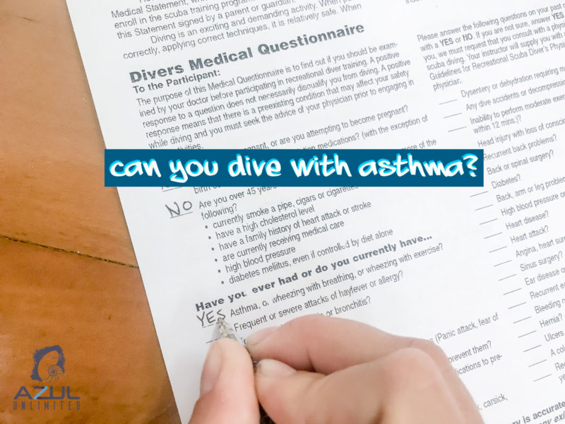 diving with asthma
