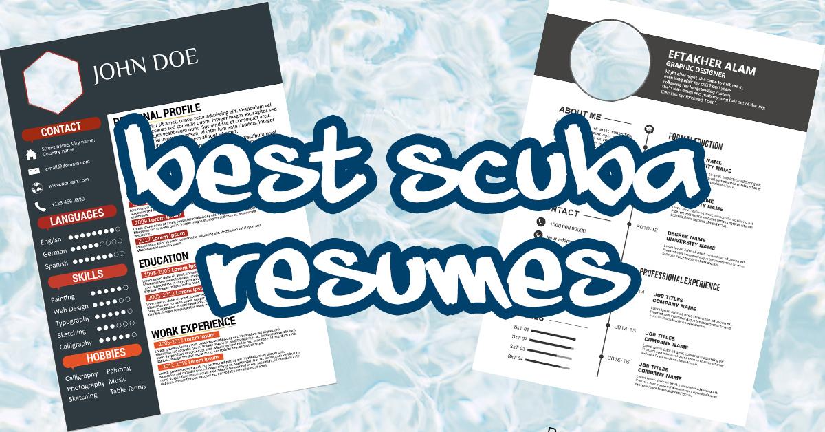 scuba diving resume